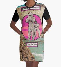 Landscape Painting Graphic T-Shirt Dress