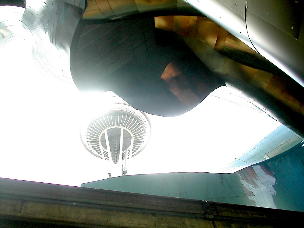 Looking up into the Light of Seattle by katherynn