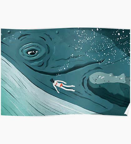 Whale dive Poster