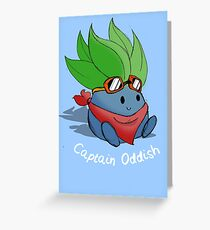 Captain Oddish Sketch Greeting Card
