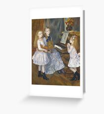 Auguste Renoir - The Daughters Of Catulle Mendes, Huguette, Claudine And Helyonne, 1888 Greeting Card