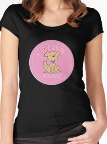 Crazy Dog Lady - I Love My Dog Women's Fitted Scoop T-Shirt