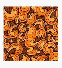 Orange waves Photographic Print