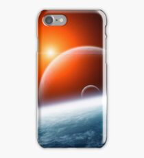 Planet Earth with Double Moon iPhone Case/Skin