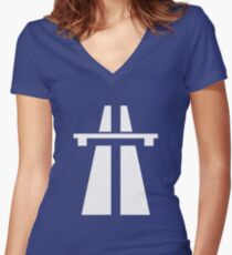 Autobahn Women's Fitted V-Neck T-Shirt