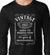 Vintage Limited 1957 Edition - 60th Birthday Gift Long Sleeve T-Shirt