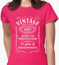 Vintage Limited 1987 Edition - 30th Birthday Gift Womens Fitted T-Shirt