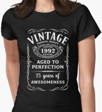 bc0e474ead Vintage Limited 1992 Edition - 25th Birthday Gift Fitted T-Shirt