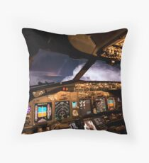 Thunderstorms ahead Throw Pillow
