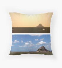 Le Mont St Michel Throw Pillow