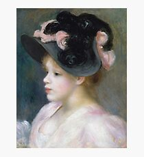 Auguste Renoir - Young Girl In A Pink - And - Black Hat Photographic Print