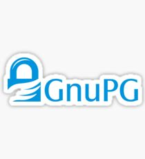 Gnu GPG Crypto Text Logo Sticker