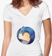 Thunder Bird Logo Women's Fitted V-Neck T-Shirt