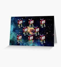 Color Robot Greeting Card
