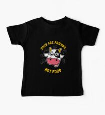 Cows Are Friends Not Food Baby Tee