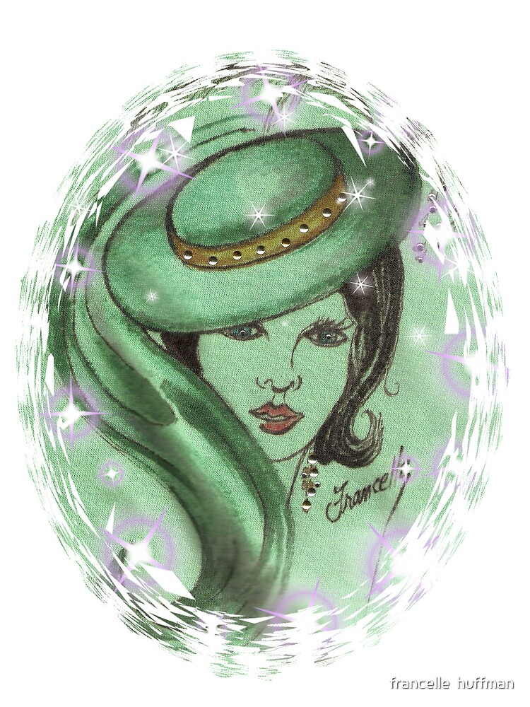 lady in green with hat by franniesbest