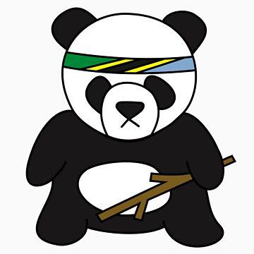 Tanzanian Battle Panda by xshay