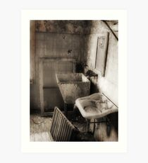 Buddha's bathroom Art Print
