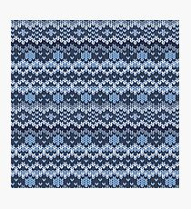 Knitted geometric pattern Photographic Print