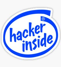 Hacker Inside Logo Sticker