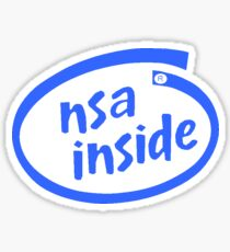 NSA inside logo Sticker