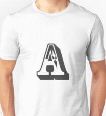 A Initial, Letter, Alphabet Unisex T-Shirt