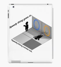 Portal momentum iPad Case/Skin
