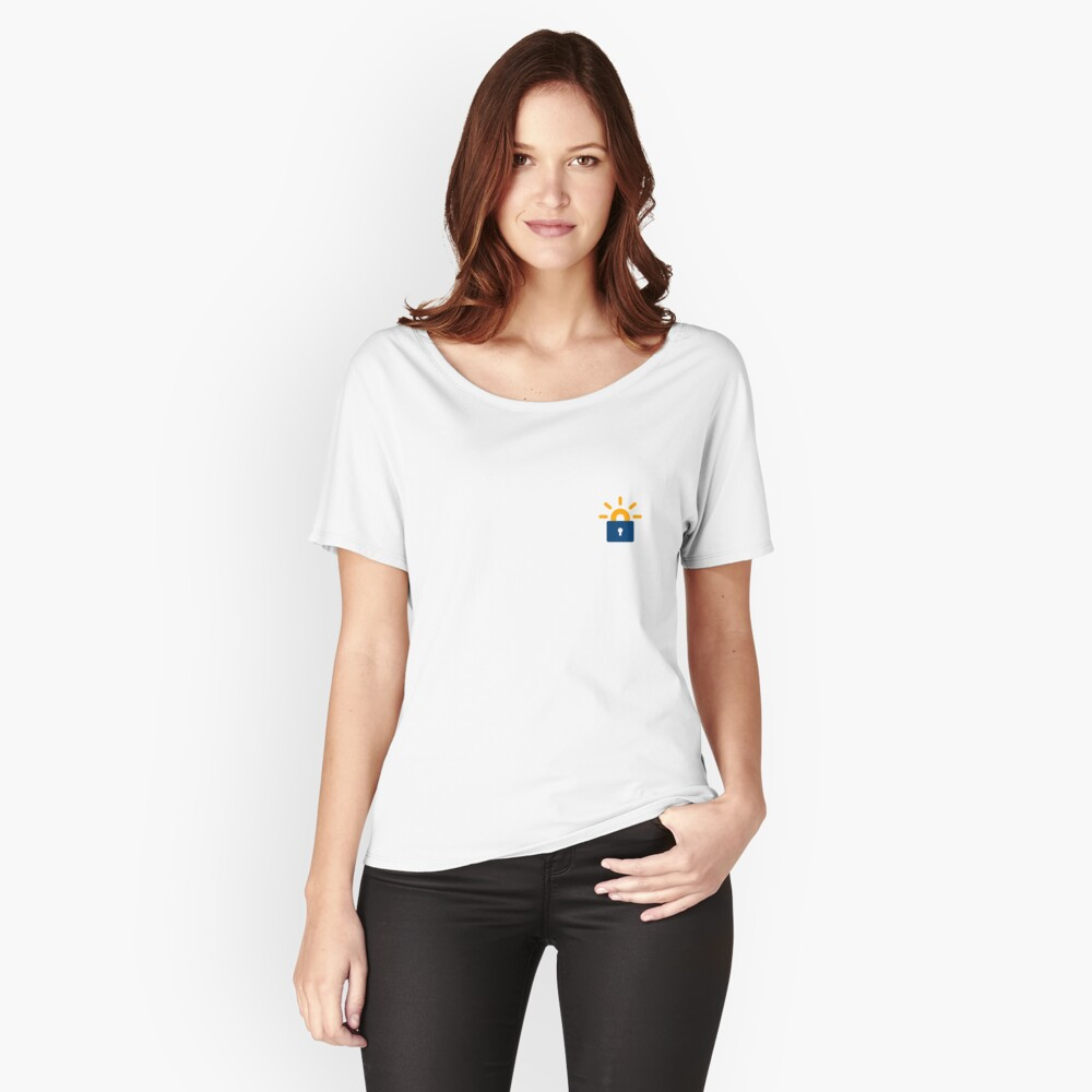 Let's encrypt logo clear Women's Relaxed Fit T-Shirt Front