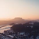 Sunrise in Saxon Switzerland von thomasrichter