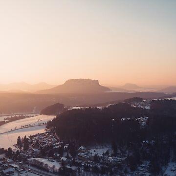 Sunrise in Saxon Switzerland by thomasrichter
