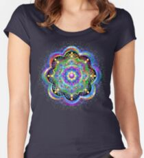 Mandala Universe Psychedelic  Women's Fitted Scoop T-Shirt