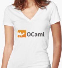 Ocaml logo Women's Fitted V-Neck T-Shirt