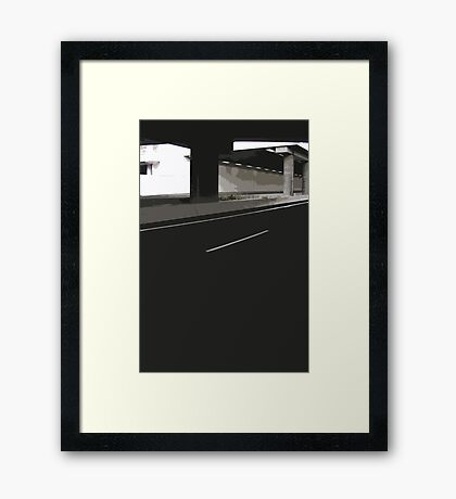 empty city Framed Print