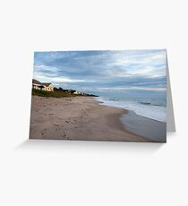Florida beach in the morning Greeting Card