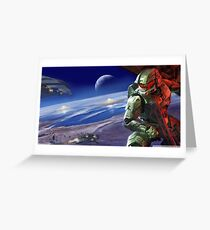 Halo Master Chief Poster Greeting Card