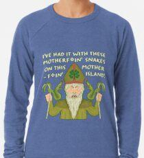 Funny Saint Patrick's Day Snakes Joke Irish Lightweight Sweatshirt