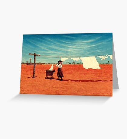 Outback Washday Greeting Card