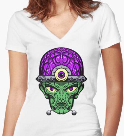 Eye Don't Mind - Full Color Jacket remix Women's Fitted V-Neck T-Shirt