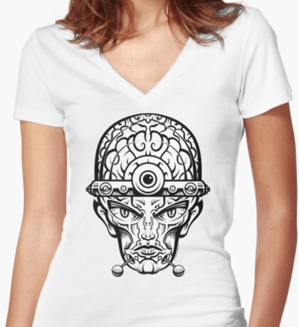 Eye Don't Mind Women's Fitted V-Neck T-Shirt