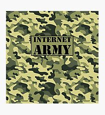 Internet Army  Photographic Print