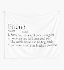 Stranger Things Friend Definition Wall Tapestry