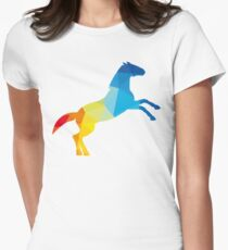 Cheval coloré Womens Fitted T-Shirt