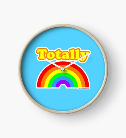 Totally Rainbow Logo Clock