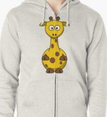 Funny Giraffe Zipped Hoodie