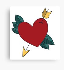 American Traditional Heart Canvas Print