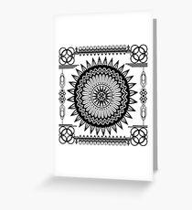 Alien Crop Circle Greeting Card