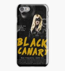 DCTV Vintage Posters - Black Canary iPhone Case/Skin