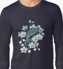Chamäleons und Orchideen Langarmshirt