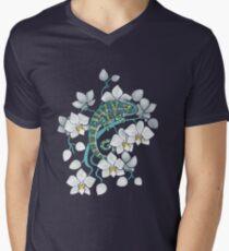 chameleons and orchids  Men's V-Neck T-Shirt