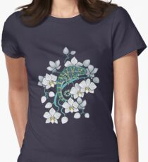 chameleons and orchids  Women's Fitted T-Shirt